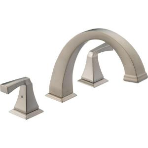 Dryden 2-Handle Deck-Mount Roman Tub Faucet Trim Kit Only in Stainless (Valve Not Included)