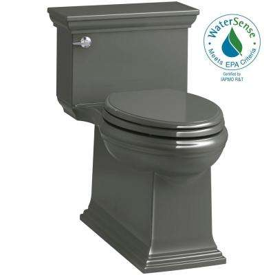 Memoirs Stately 1-Piece 1.28 GPF Single Flush Elongated Toilet in Thunder Grey (Seat Included)