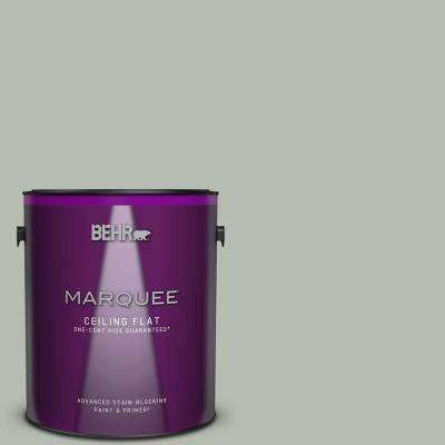 1 gal. #HDC-AC-21 Keystone Gray One-Coat Hide Ceiling Flat Interior Paint and Primer in One