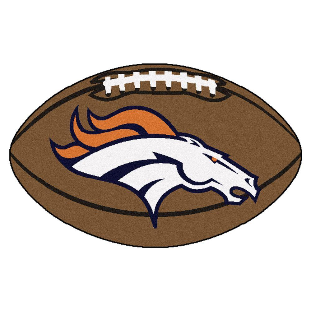 Fanmats Nfl Denver Broncos Brown 1 Ft 10 In X 2 Ft 11