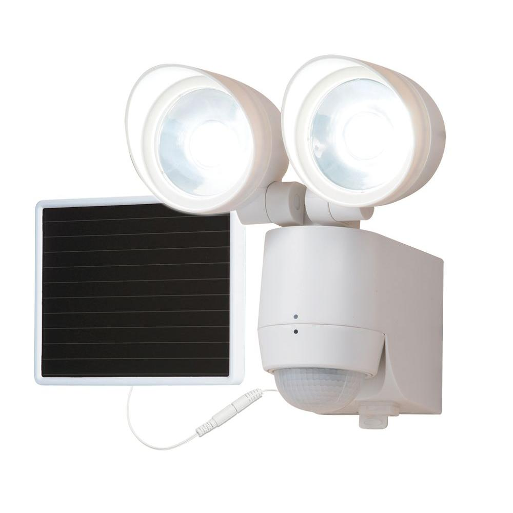130-Degree Motion Activated Sensor Twin-Head Solar Powere...