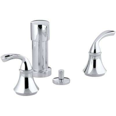 Forte 2-Handle Bidet Faucet in Polished Chrome with Sculpted Lever Handles