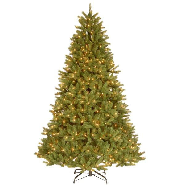 9 ft. Feel Real Grande Fir Medium Hinged Artificial Christmas Tree with 900 Clear Lights