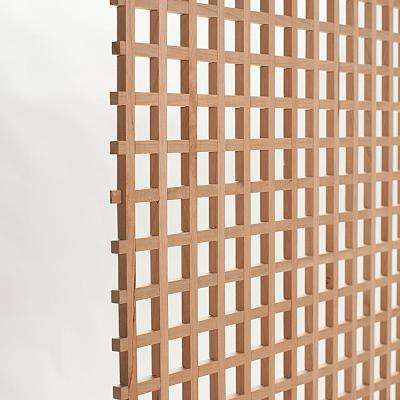 24 in. x 35-3/4 in. x 3/8 in. Unfinished Square Solid North American Cherry Lattice Panel Insert