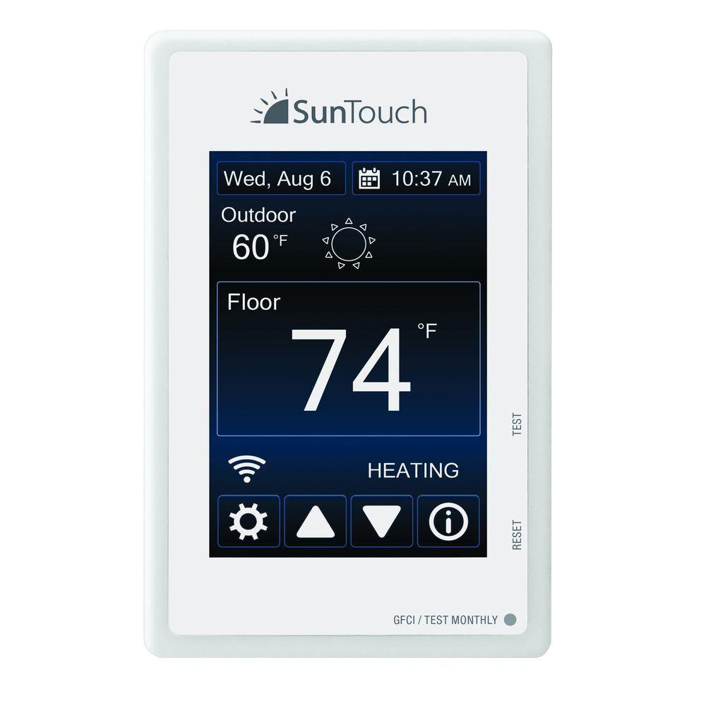Under floor heating flooring the home depot sunstat connect wi fi programmable floor heating thermostat dailygadgetfo Image collections