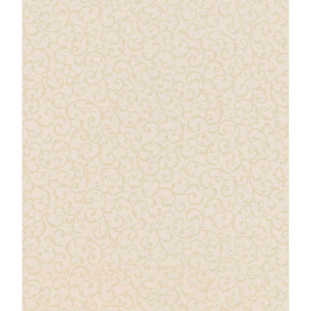Brewster 56 sq. ft. Scroll Texture Wallpaper