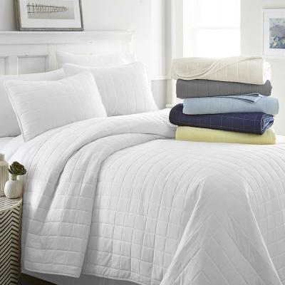 Square Quilted Coverlet Set