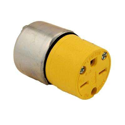 15 Amp 250-Volt Armored Grounding Connector, Steel