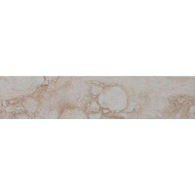 Pietra Bernini Bianco 4 in. x 18 in. Polished Porcelain Floor and Wall Tile (12.5 sq. ft. / case)