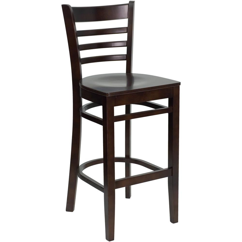 FLASH Hercules 29.5 in. Walnut (Brown) Bar Stool