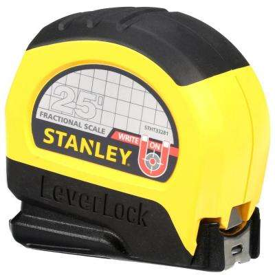 LeverLock 25 ft. x 1 in. Tape Measure with decimal scale