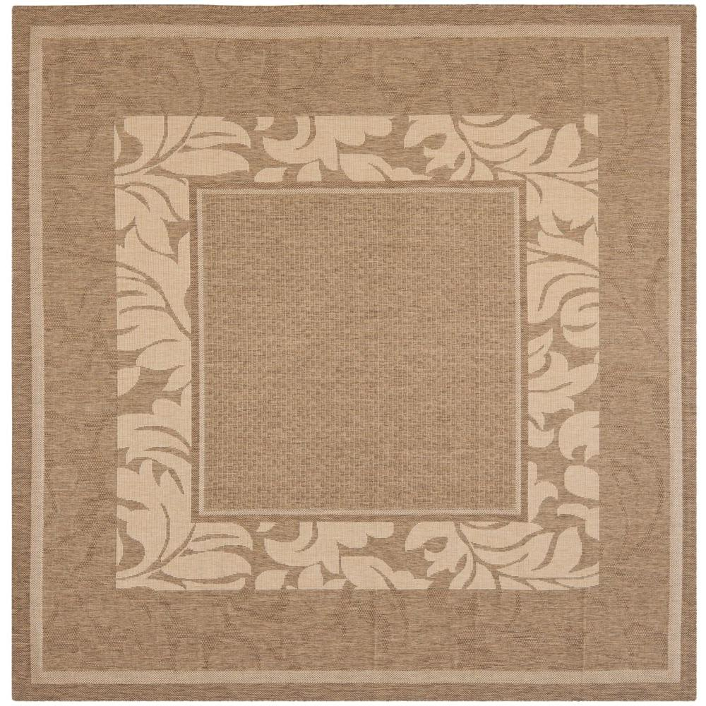 Courtyard Brown/Natural 7 ft. x 7 ft. Indoor/Outdoor Square Area Rug