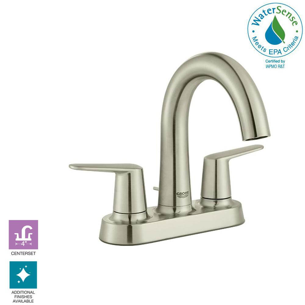 High Spout Bathroom Faucet: Veletto 4 In. Centerset Two-Handle High-Spout Bathroom