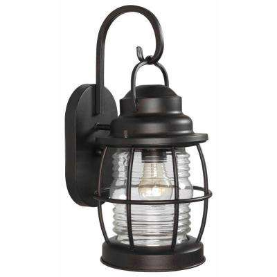 Beacon 1-Light Gilded Copper Medium Wall Lantern