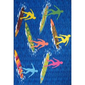 LA Rug Surf Time Surfs R Us Multi Colored 39 inch x 58 inch Accent Rug by LA Rug
