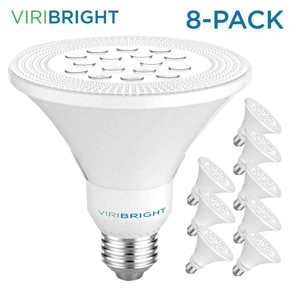 Viribright 75-Watt Equivalent PAR30 Dimmable Short Neck Indoor LED Flood Light Bulb 800 Lumens Cool White (8-Pack)