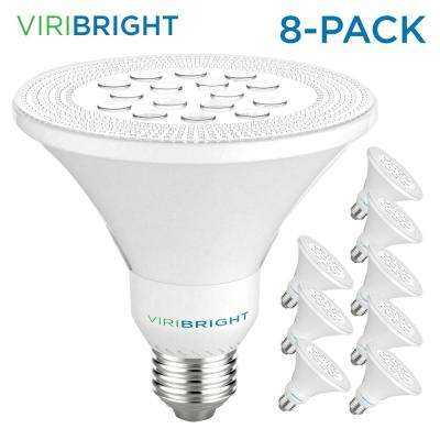 75-Watt Equivalent PAR30 Dimmable Short Neck Indoor LED Flood Light Bulb 800 Lumens Cool White (8-Pack)