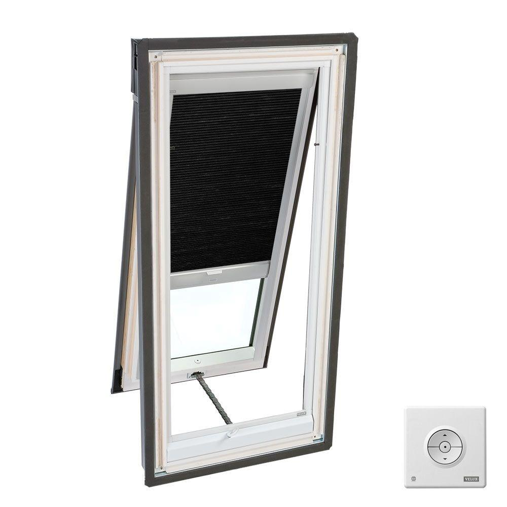Solar Powered Room Darkening Charcoal Skylight Blinds for VS C01, VSS