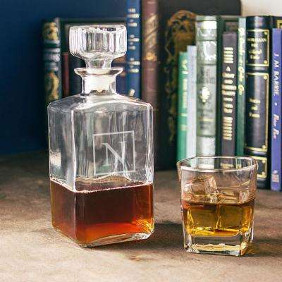 Personalized Glass Decanter - N