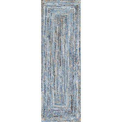Otelia Denim And Jute Denim 3 ft. x 8 ft. Runner Rug