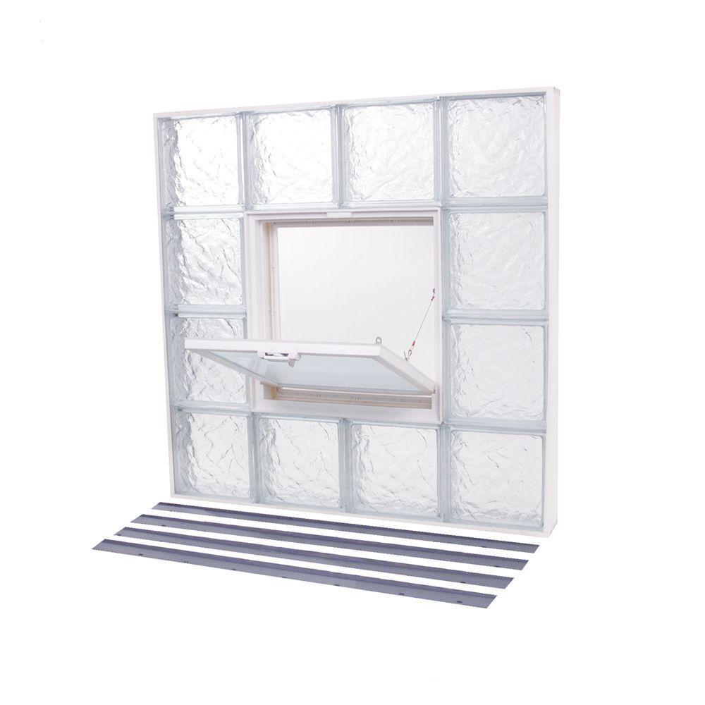 31.625 in. x 31.625 in. NailUp2 Ice Pattern Glass Block Window