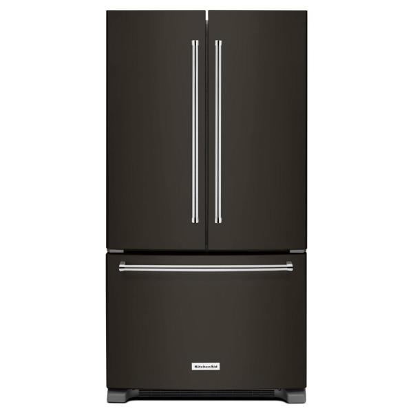 20 cu. ft. French Door Refrigerator in PrintShield Black Stainless, Counter Depth