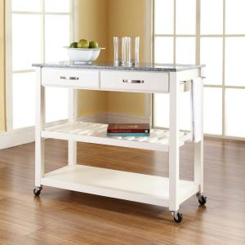 Internet #204461097. +2. Crosley White Kitchen Cart ...