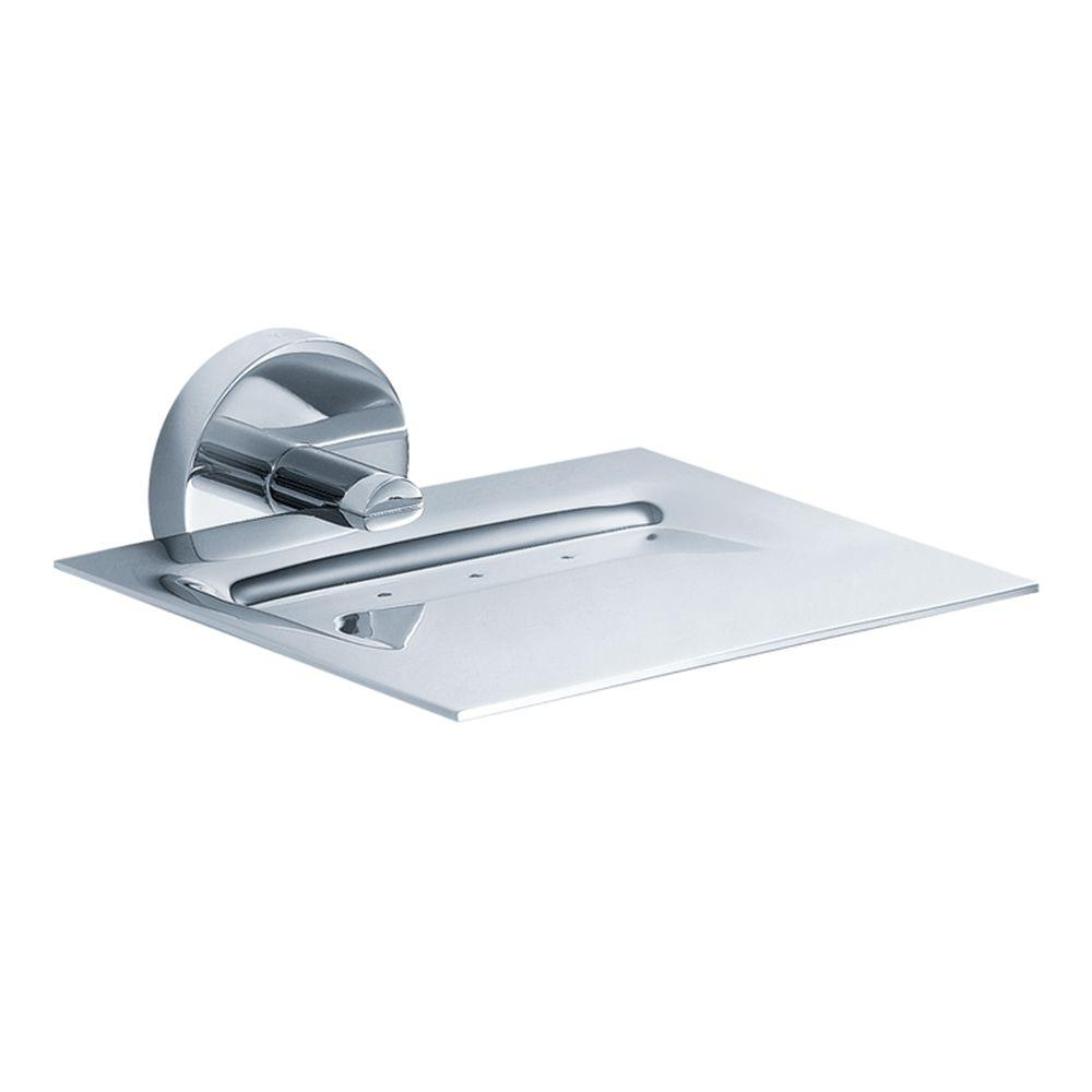 Kraus imperium bathroom wall mounted brass soap dish in chrome kea 12205ch the home depot for Wall mounted soap dishes for bathrooms
