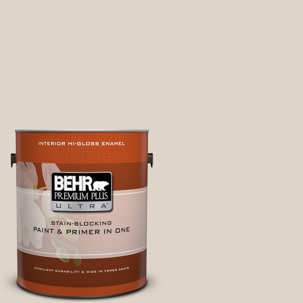 1 gal. #720C-2 Chocolate Froth Hi-Gloss Enamel Interior Paint