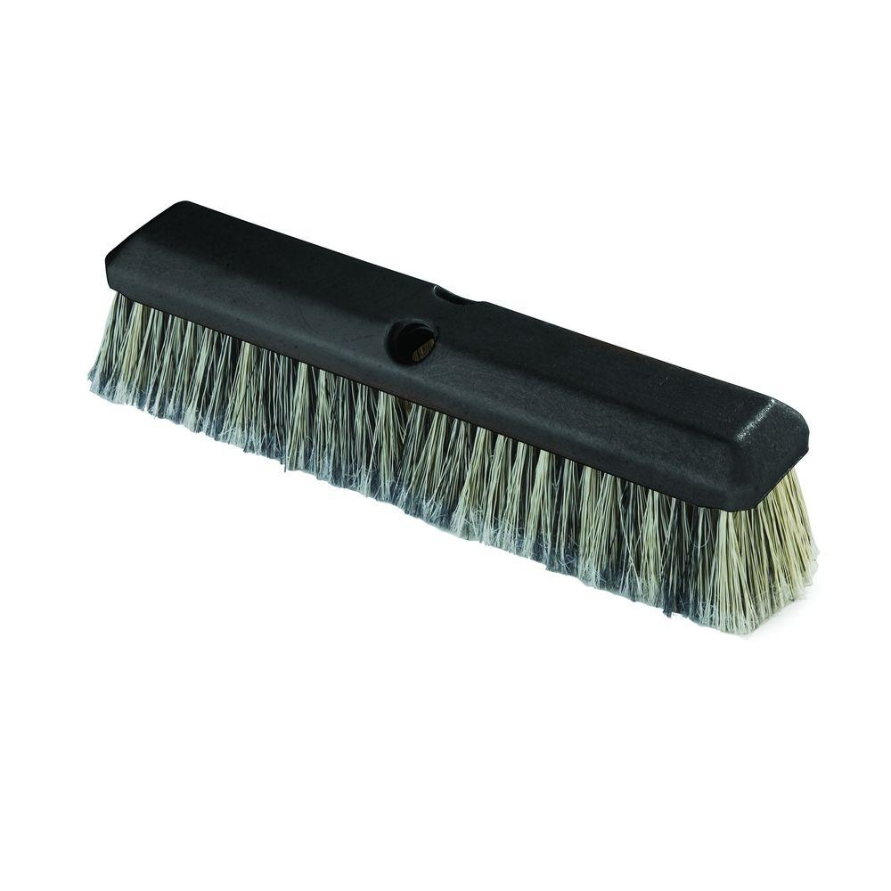 Carlisle 14 in. Vehicle Wash Scrub Brush with Flagged Grey Polystyrene Bristles (Case of 12)