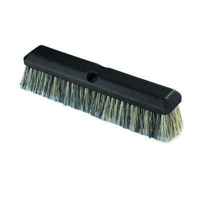 14 in. Vehicle Wash Scrub Brush with Flagged Grey Polystyrene Bristles (Case of 12)