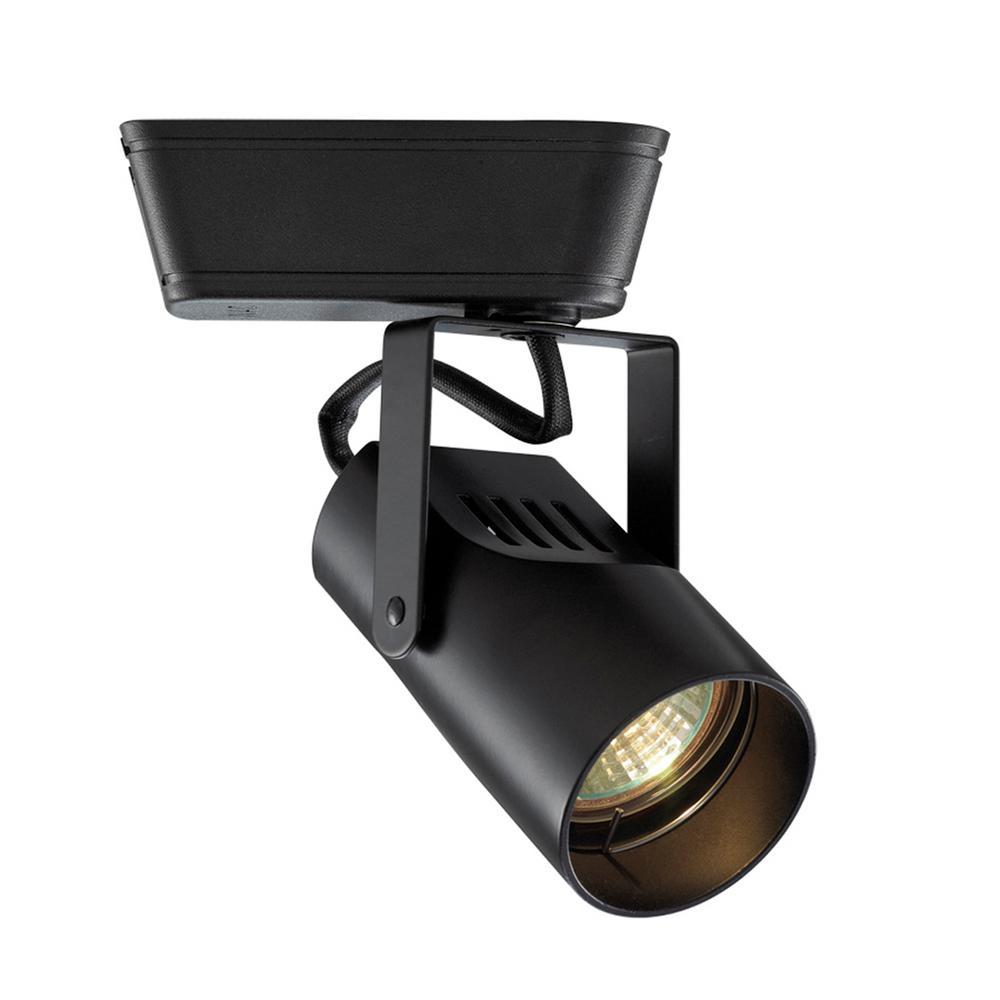 1-Light 75-Watt Black Low Voltage Track Head for H Track
