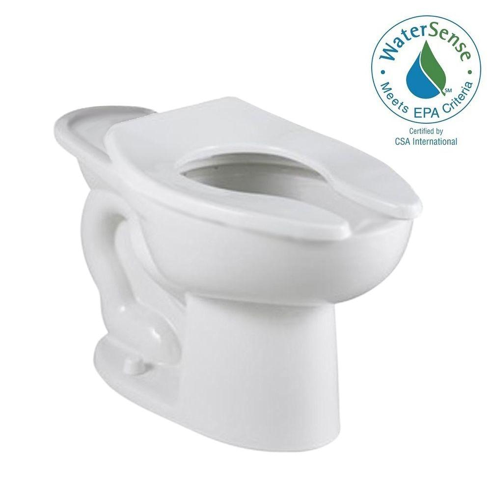 American Standard Madera FloWise 11 GPF 16 Elongated Flush Valve Toilet Bowl Only In