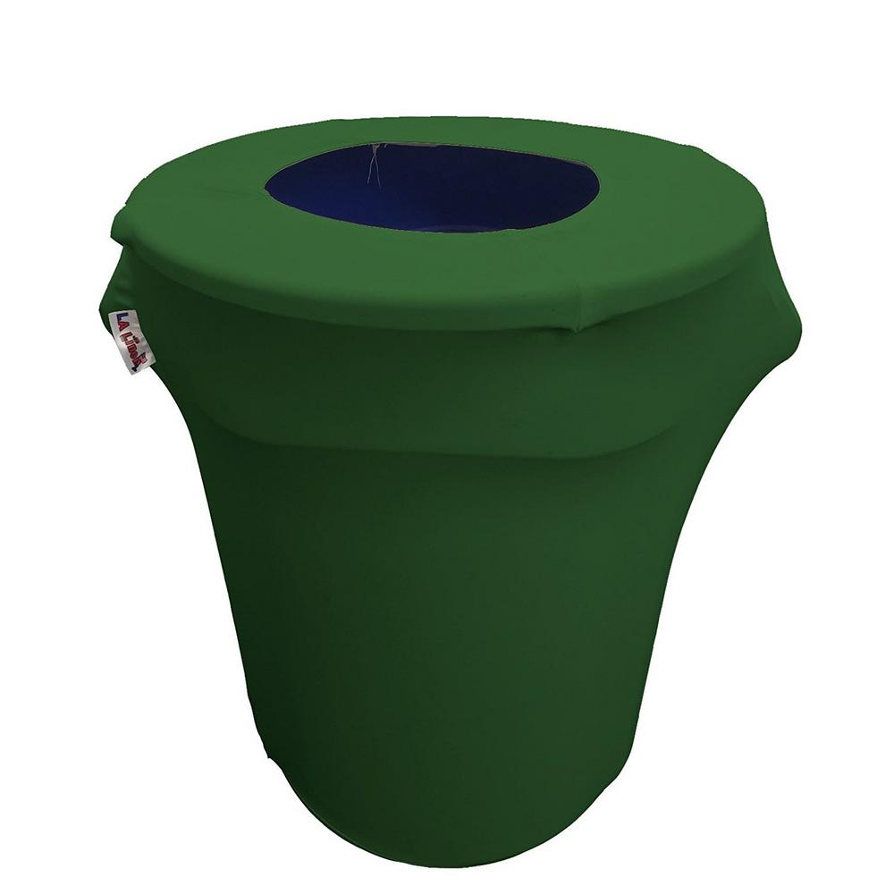 Round Emerald Green Stretch Cover for 32 Gal. Trash Can