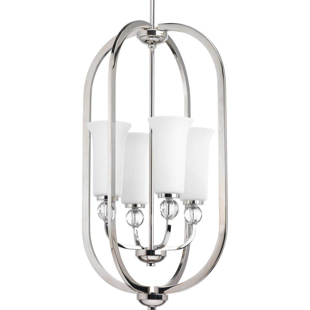 Elina Collection 4-Light Polished Nickel Chandelier