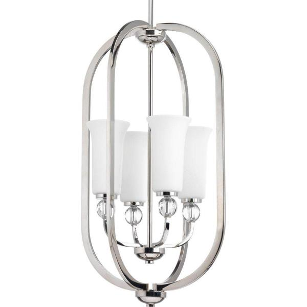 Elina Collection 4-Light Polished Nickel Chandelier