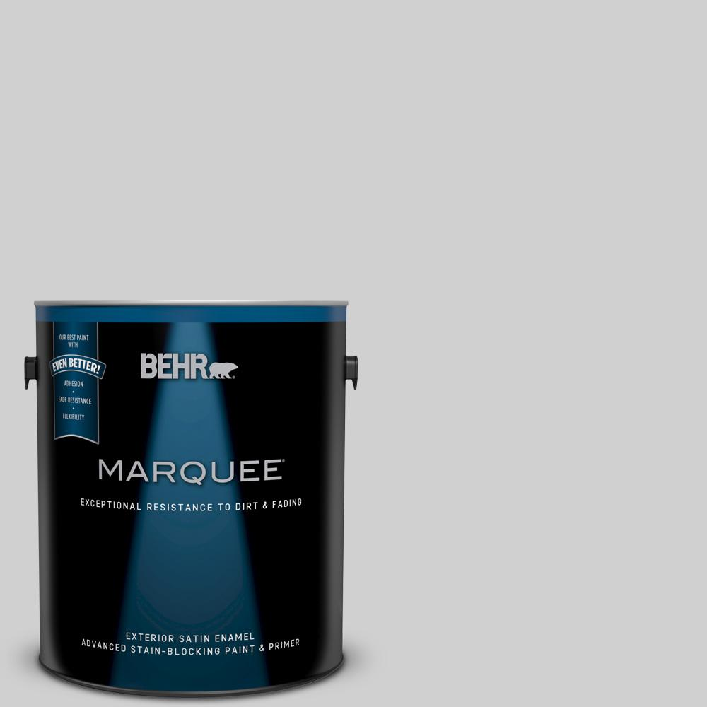 Behr Marquee 1 Gal N520 1 White Metal Satin Enamel