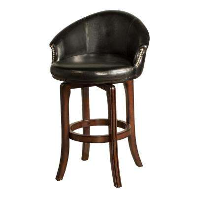 Low Back Faux Leather Nailhead Trim Bar Stools Kitchen