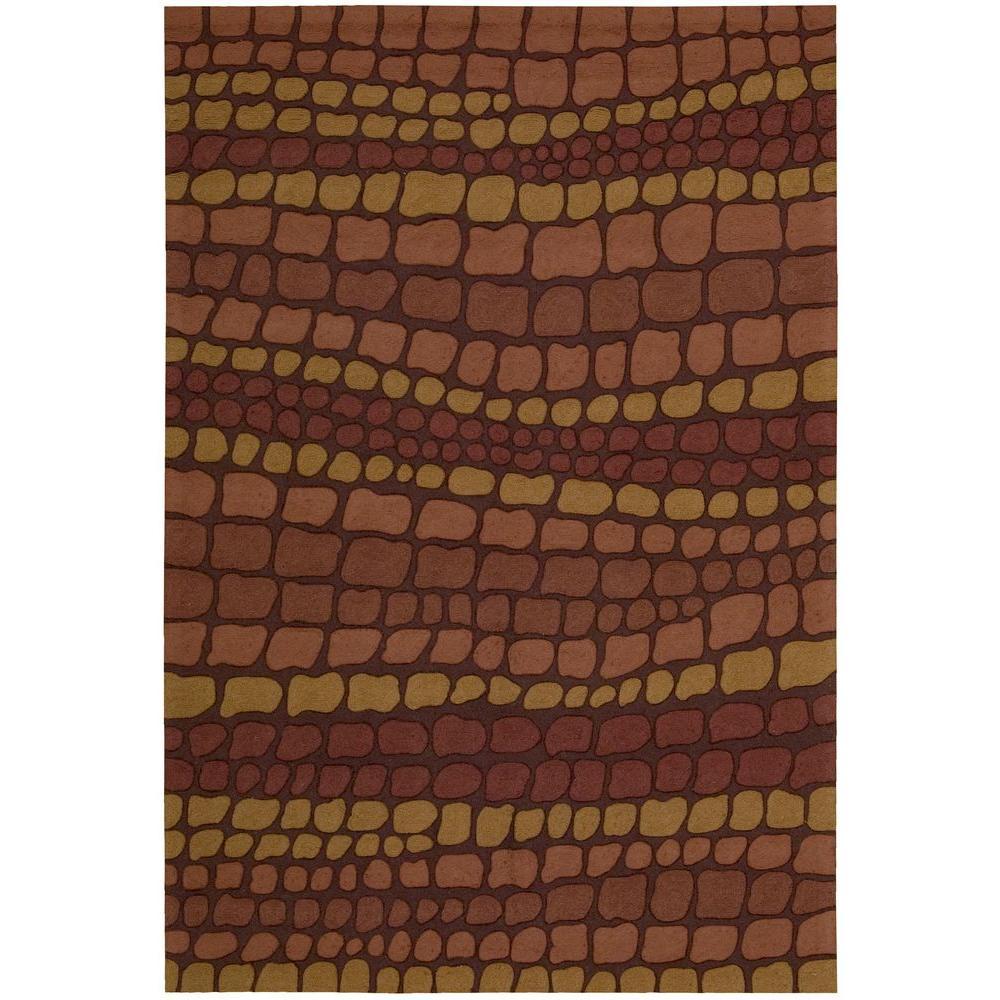 Nourison Overstock Terra Brick 3 Ft. X 4 Ft. Area Rug