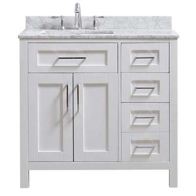 Miraculous Riverdale 36 In W X 21 In D Vanity In White With Marble Vanity Top In White With White Sink Download Free Architecture Designs Boapuretrmadebymaigaardcom