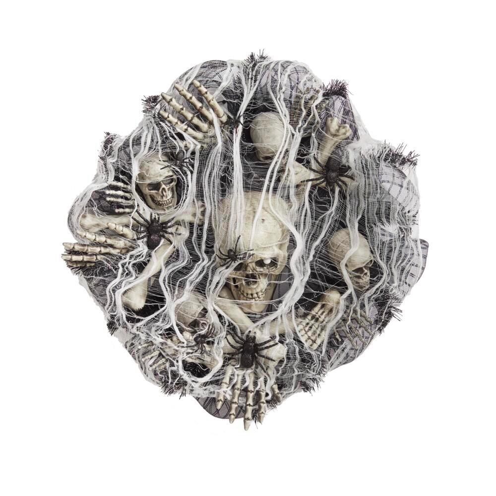 30 in. Freaky Skeleton Artificial Halloween Wreath