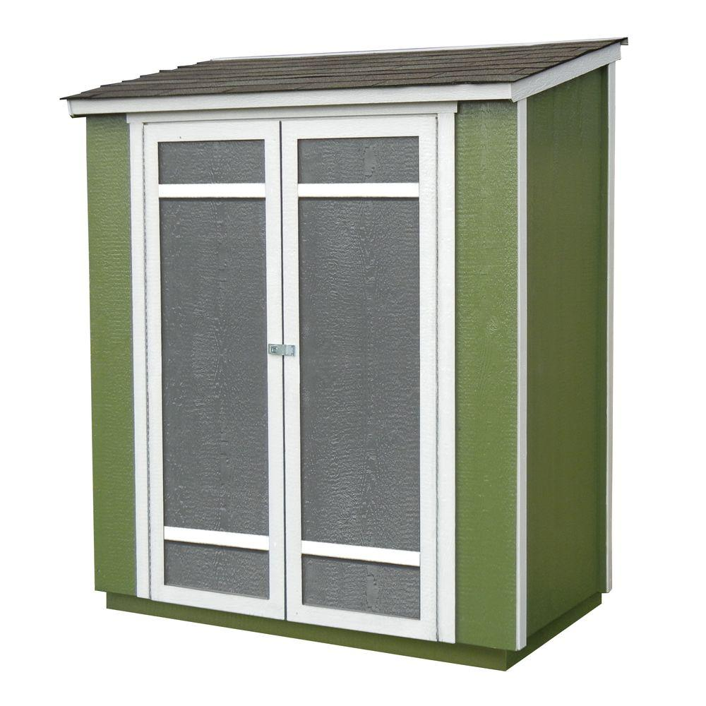 handy home products ocoee 6 ft x 3 ft wood storage shed 19106 0 the home depot - Garden Sheds 6 X 3