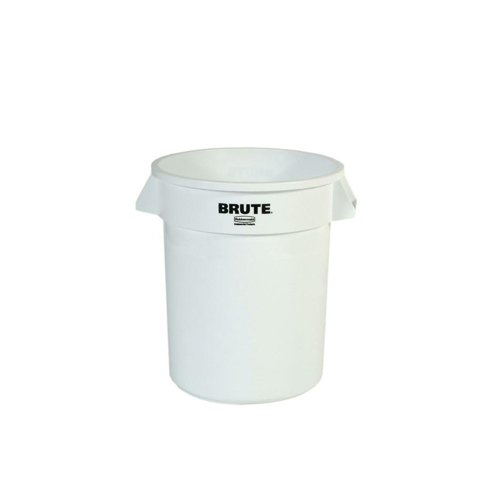 BRUTE 20 Gal. White Round Trash Can