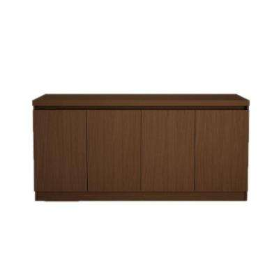 Viennese 5 ft. 4-Door Nut Brown Buffet or Sideboard Table