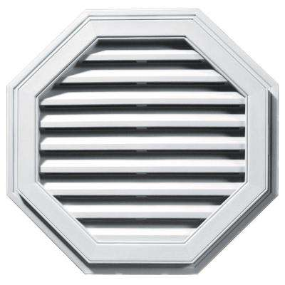 27 in. Octagon Gable Vent in White