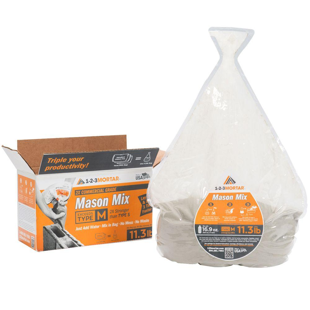 1-2-3Mortar 11.3 lb. Type M Commercial Grade Mason Mortar Mix
