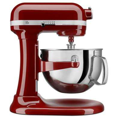 Professional 600 Series 6 Qt. 10-Speed Gloss Cinnamon Stand Mixer with Flat Beater, Wire Whip and Dough Hook Attachments