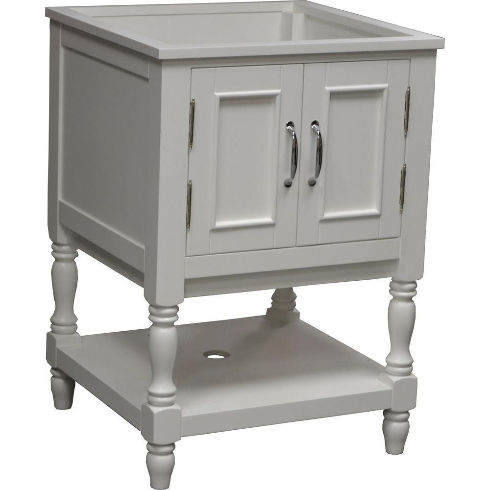 Aspen 24 in. Vanity Cabinet Only in White