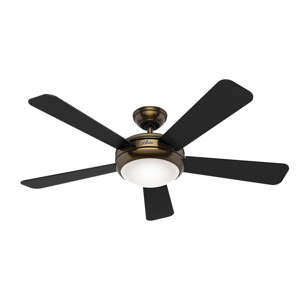Indoor Brushed Bronze Ceiling Fan With Remote