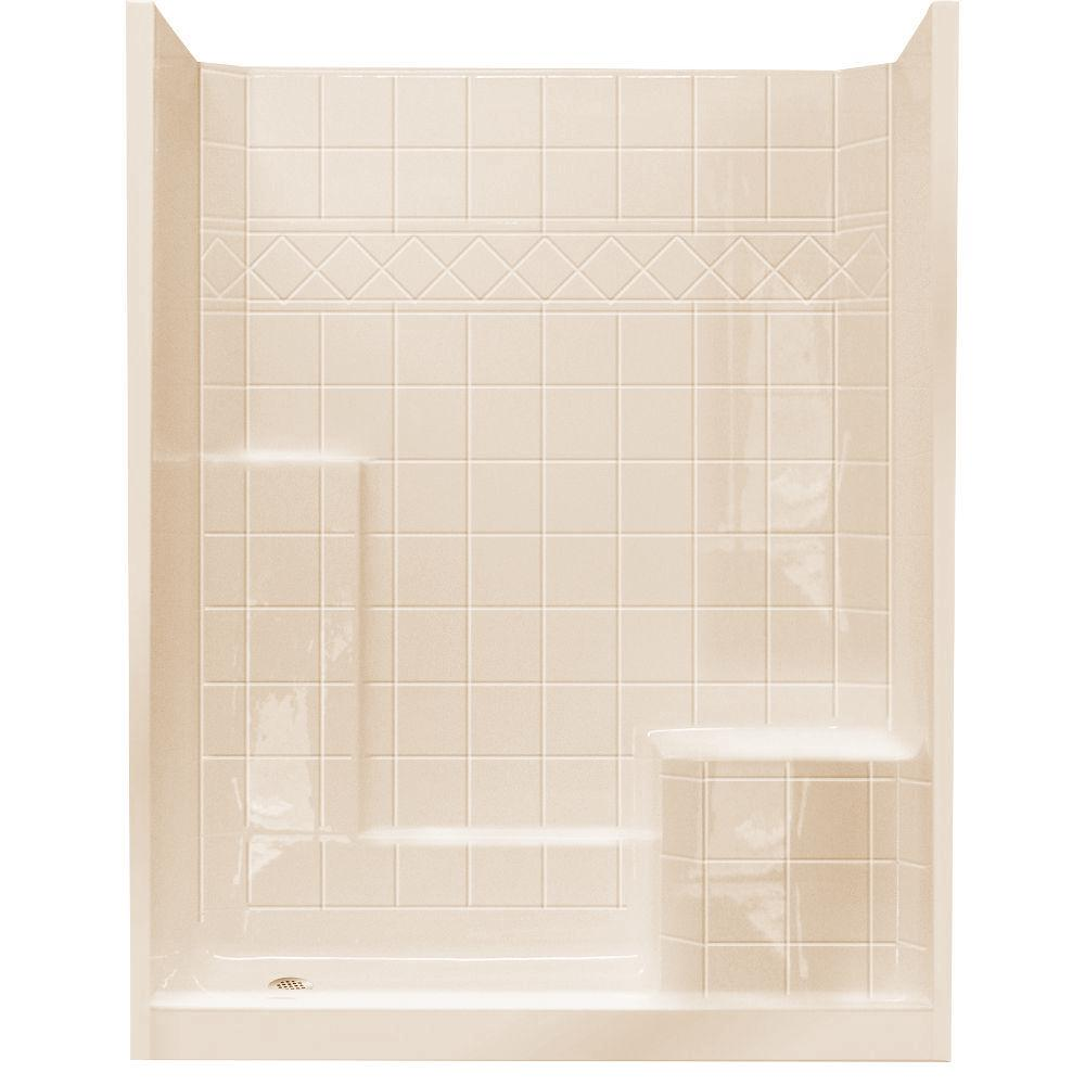 Almond - Shower Stalls & Kits - Showers - The Home Depot
